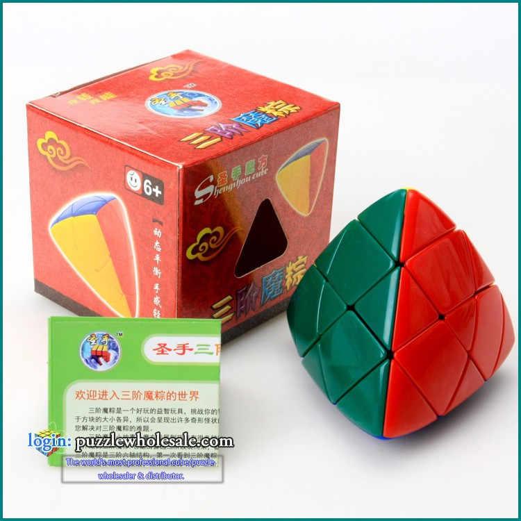 Shengshou Mastermorphix ماستر الهرم المكعب السحري الأرز زلابية مكعب اللون ستيكيرليس cubos magicos الألغاز