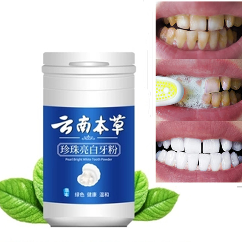 50g Teeth Whitening Powder Oral Hygiene Cleaning Teeth Plaque Tartar Removal Stains Tooth White Powders
