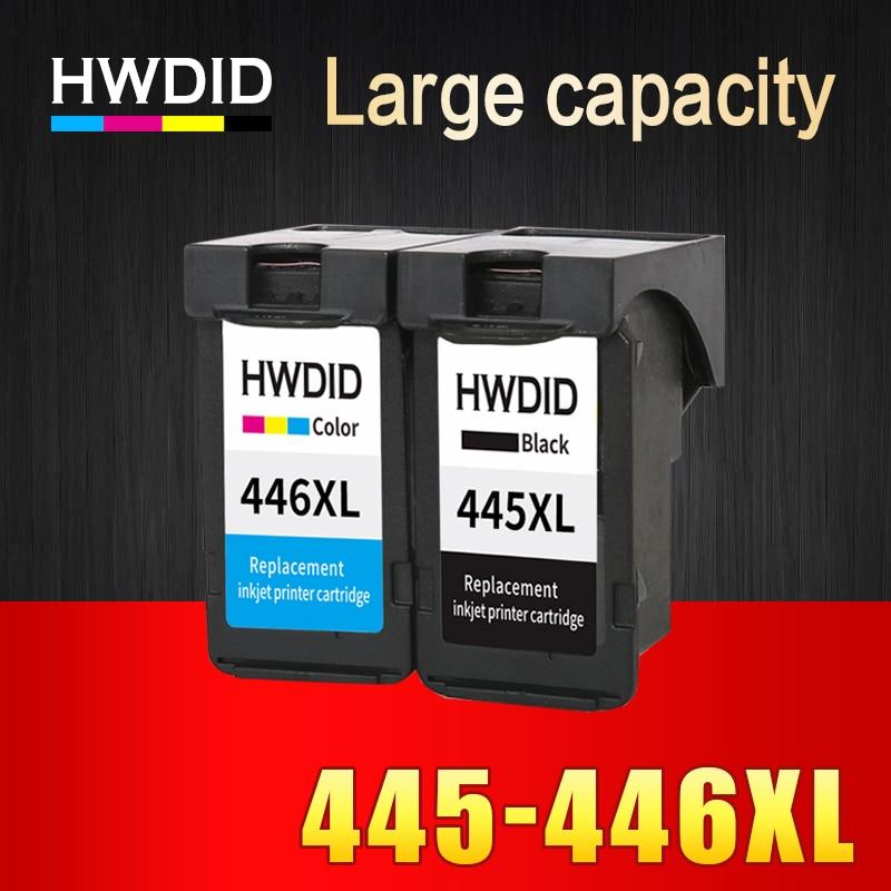 HWDID PG-445 CL-446 Ricaricate cartuccia di inchiostro di ricambio per Canon pg445 pg 445 cl446 per PIXMA MX494 MG2440 2540 2940 MX494 2840