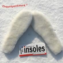 Натуральный стельки из овчины Кашемир термальность Дубленки снегоступы обувь Pad натуральный мех шерсть взрослых детей зимняя обувь Теплые