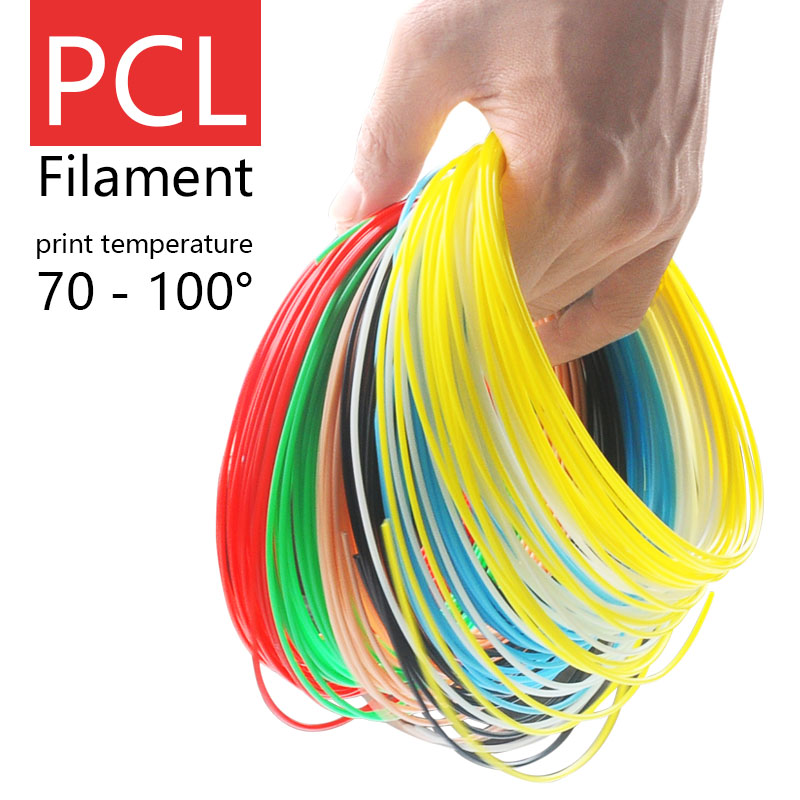 3d printed pen Filament PCL plastic 1.75mm low temperature 3d pens silk 15 colors plastic Health Environmental safety materials