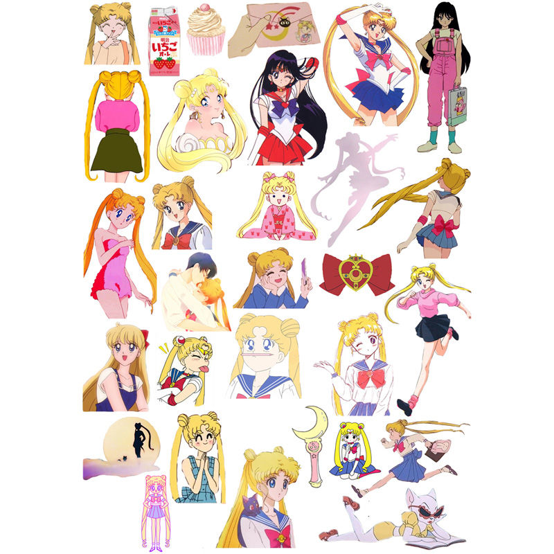 2 Pcs/lot Kawaii Sailor Moon Decoration Mohamm Paper Bullet Journal Sticker Calendar Diary Agenda Toy Stickers Scrapbooking