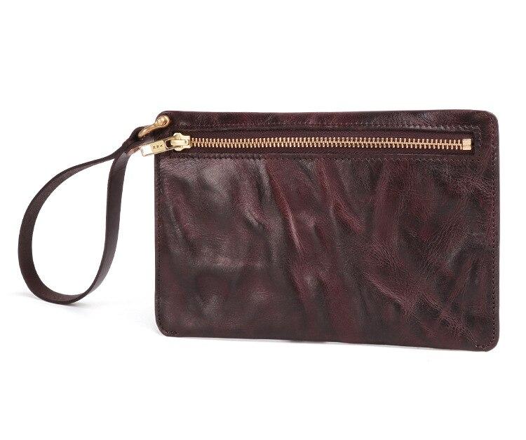 Vintage Wallets Handbag Purse Clutch Italian Multi-Card Fashion Zipper Men with Business