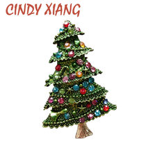 New Christmas Tree Brooches for Women Rhinestone Inlay Fashion Jewelry  Festival Brooch Pins Good Gift Winter Coat Cap Brooch 0ee3e171f8f0