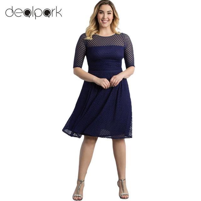 Aliexpress Buy Women Plus Size Dress Dot Semi Sheer Mesh