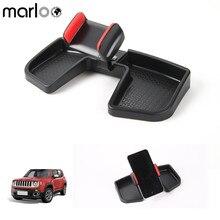 Marloo Painel Do Carro Titular Do Telefone Celular Com Caixa de Armazenamento ABS 360 graus de Rotação Titular GPS Suporte Auto Móvel Para Renegado Jeep 15-17
