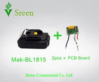 New Spare BL1815 Lithium Ion PCB Circuit Board With Replacement Makita 18V 1 5Ah Power Tool