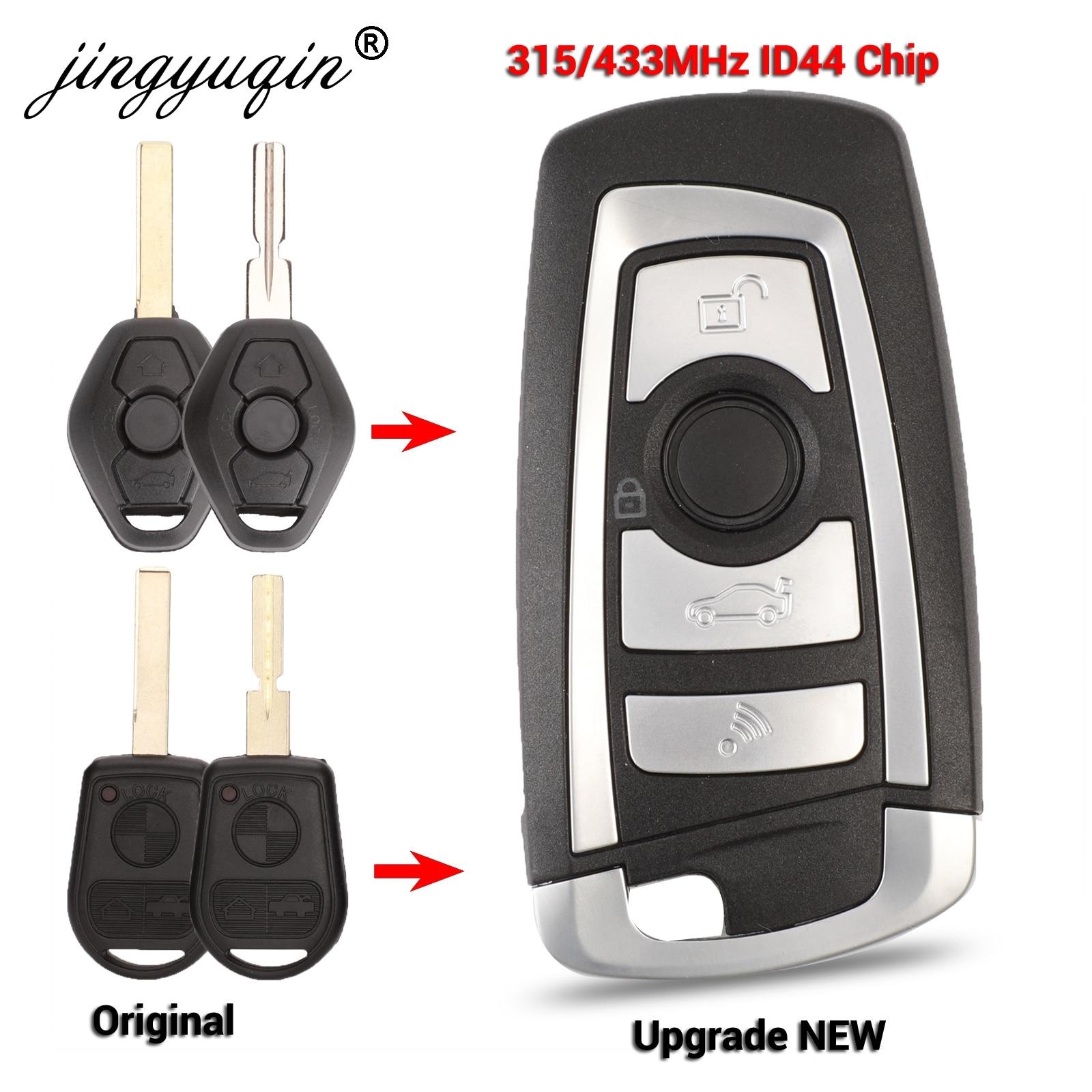 Jingyuqin EWS Flip modificado de llave de control remoto botón 4 315 MHz/433 MHz PCF7935AA ID44 Chip para BMW E38 E39 E46 M5 X3 X5 Z3 Z4 HU58 HU92