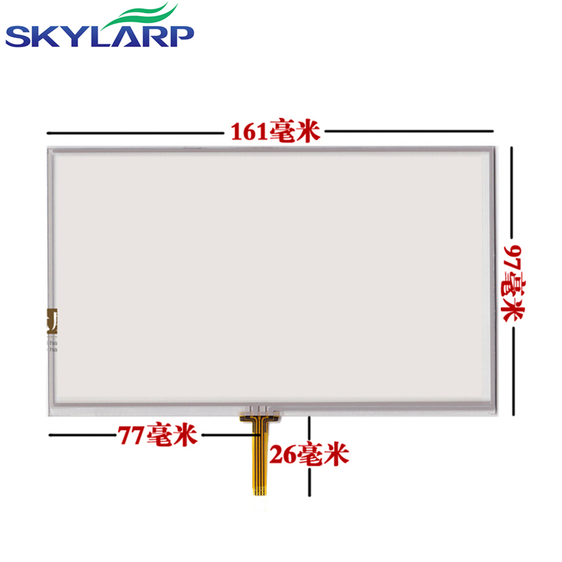 skylarpu 7inch LCD display GPS x10 x20 touchscreen E road traffic navigation GPS LCD display touch screen 161*97mm touch panel