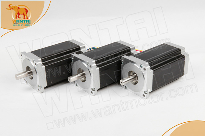 Top Quality! CNC Wantai 3PCS Nema34 Stepper Motor 85BYGH450C-060 1600oz-in 151mm 6A Dual Flat Shaft Milling Cutting Machine
