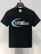 19ss Vetements Tshirt  Your Name print 1:1 real tags cotton Top Tees Streetwear skateboard Hip Hop kanye heron preston tshirt