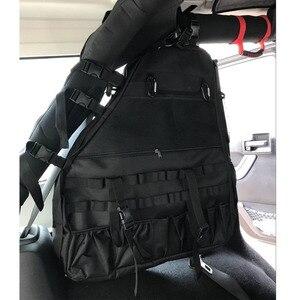 Image 2 - Chuang Qian 2X Roll Bar Strumento Sacchetto di Immagazzinaggio Multi Tasche Bisaccia Organizzatori Cargo per Jeep Wrangler JK TJ LJ e 4 Porta illimitato