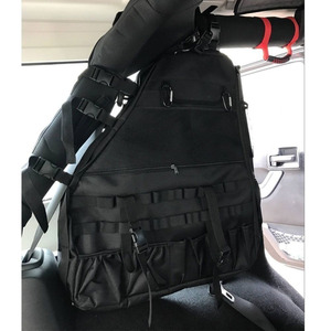 Image 2 - Chuang Qian 2X Roll Bar Tool Storage Bag Multi Pockets Saddlebag Organizers Cargo for Jeep Wrangler JK TJ LJ & Unlimited 4 Door