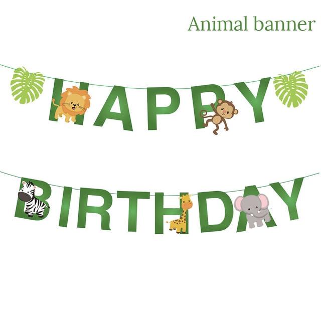1set Banner Monkey 1st birthday decorations 5c64f9ae5e140