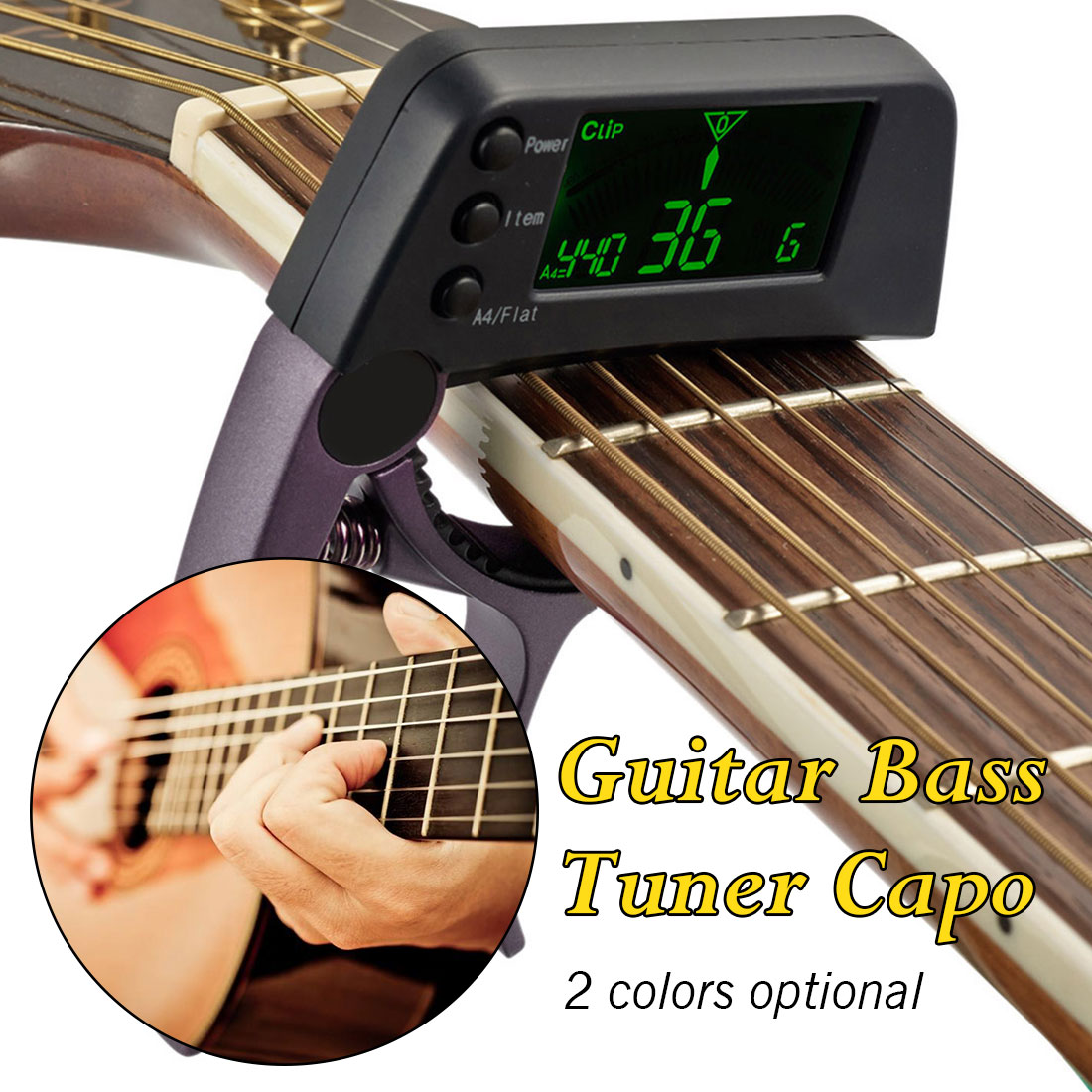 2019 new arrival tcapo20 acoustic guitar capo quick change key guitar capo tuner for electric. Black Bedroom Furniture Sets. Home Design Ideas