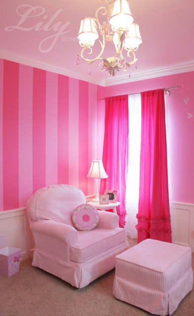 Online Hot Pink Ruffled Curtain Panels 100 Cotton For S Room Princess Bedroom One Pair Aliexpress Mobile