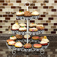 iron multi cupcake stand for wedding cupcake tower for baby shower candy decoration with Cupcake Wrapper Liner Baking Cup
