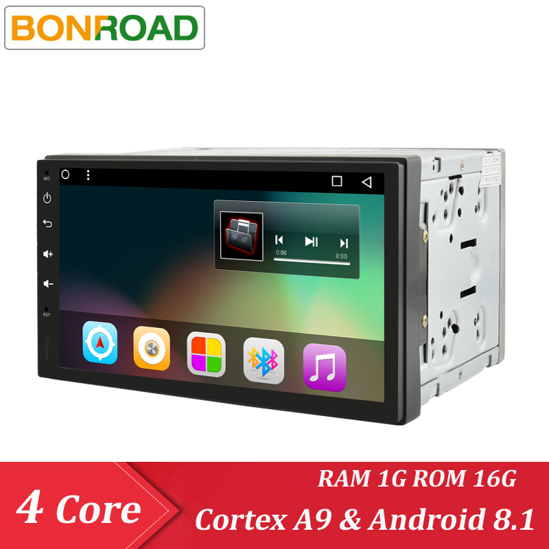 Bonroad 2Din 1024*600 Android 7.1 Universal Car Tap PC Tablet  For Nissan For Hyundai  GPS Navi Radio Stereo Audio Player(No CD)