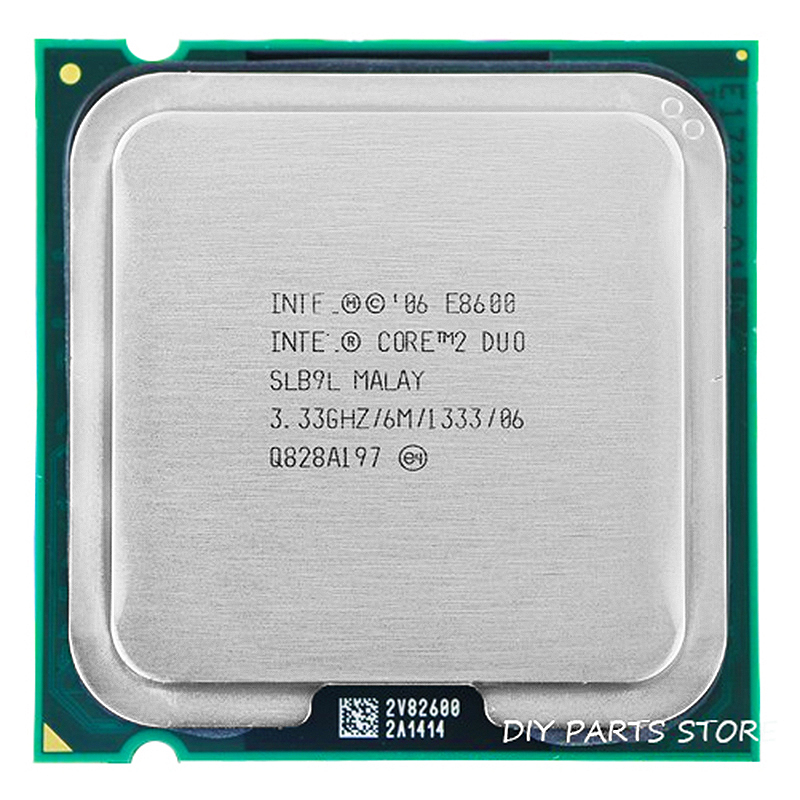 INTEL Core 2 Duo E8600 Socket LGA 775 CPU Intel E8600 prosessoru (3.3Ghz / 6M / 1333GHz) Socket 775