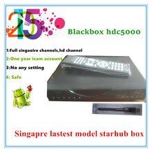 2016 singapour date boîte de starhub qbox hd récepteur qbox 5000hdc avec icam compte livraison tous les canaux de mise à niveau noir hdc4000