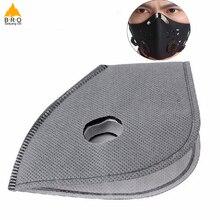 5 шт./лот, маски, фильтр PM2.5, смоговая маска для велосипеда, велоспорта, пыли, загрязнения воздуха, защита лица, углеродная маска, фильтр, маски, клапан