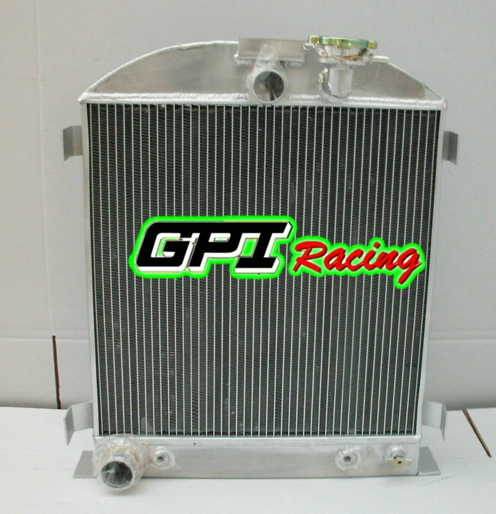 3 ROWS Aluminum Radiator for 1932 32 Ford Chopped Ford Engine Cooler AT//MT
