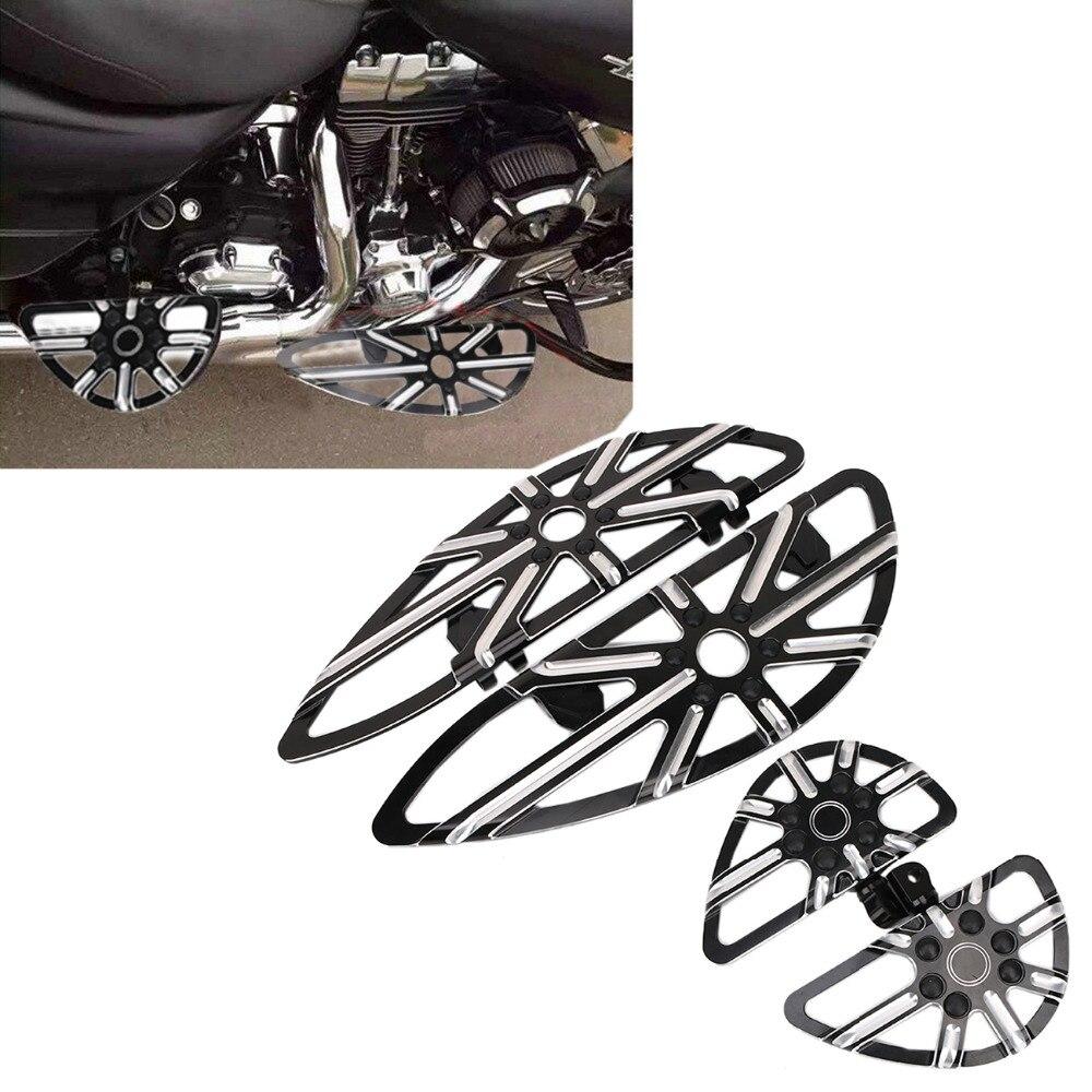 Мотоцикл передние для водителя и заднего пассажира с ЧПУ Половица подножка доски остальные педаль для Harley гастроли dyna с СТД ФЛД #MBJ062