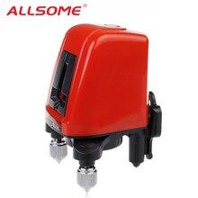 ALLSOME AK435 360 градусов наливные перекрестный лазерный уровень горизонтальный вертикальная линия Lazer уровень красный 2 линии 1 точка HT2501
