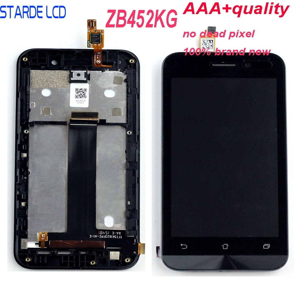 Cep telefonları ve Telekomünikasyon Ürünleri'ten Cep Telefonu LCD'leri'de Starde Asus Zenfone gitmek için LCD ZB452KG X014D LCD ekran dokunmatik ekranlı sayısallaştırıcı grup çerçeve ile ZB452KG ekran değiştirme