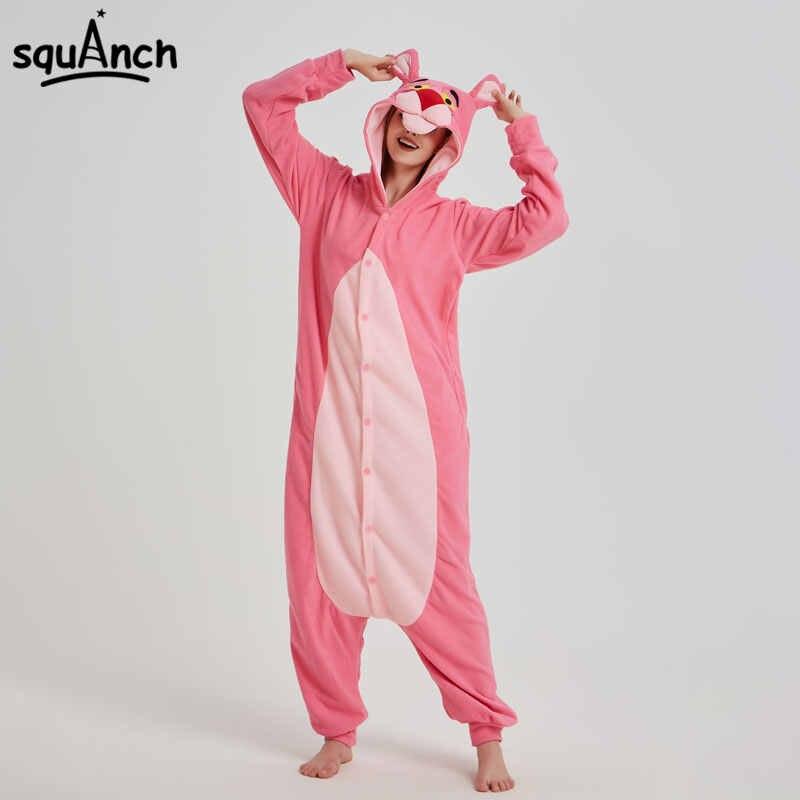 884e35409074 Detail Feedback Questions about Pink Animal Kigurumi Anime Panther Onesie  Pajama Polar Fleece Jumpsuit Funny Sleepwear Women Girl Festival Outfit  Fancy ...