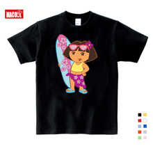 2019 kids tops children t shirt  Dora girls Sweet Lovely style cute cartoon tees Explorer girl summer 3T-9T