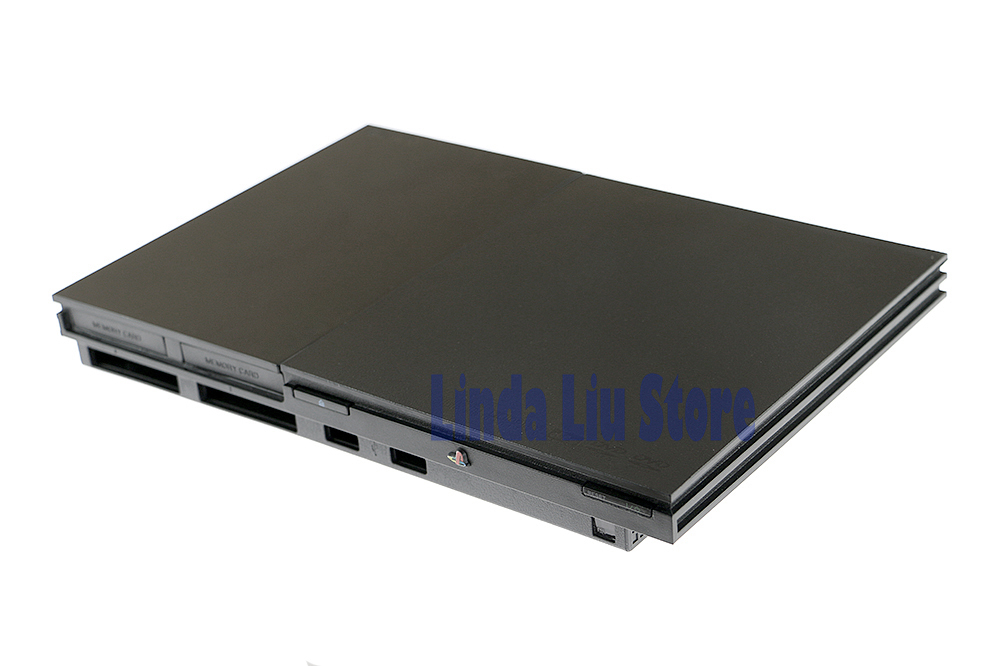 3pcs/lot 9w <font><b>90000</b></font> 9000X Full Housing Shell Case for <font><b>PS2</b></font> Slim Console case Cover with label image