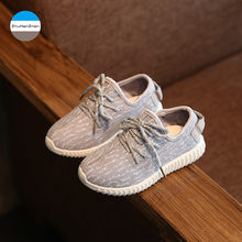2018 New fashion 1 to 12 years old baby boys and girls casual sport shoes soft bottom children running shoes kids sneakers(China)