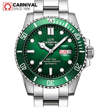 2017New mens watches top brand luxury Swiss Carnival automatic mechanical wrist watches full steel fashion military sport clocks