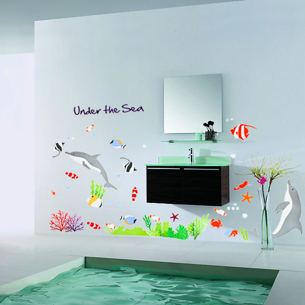 Under The Sea Cute Cartoon Fish Home Decoration Stickers For