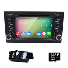 Free Camera 1024*600 Quad Core Android 5.1.1 Car DVD Player for Audi A4 2002-2007 S4 RS4 8E 8F B9 B7 RNS-E (DTV DAB+ Optional)