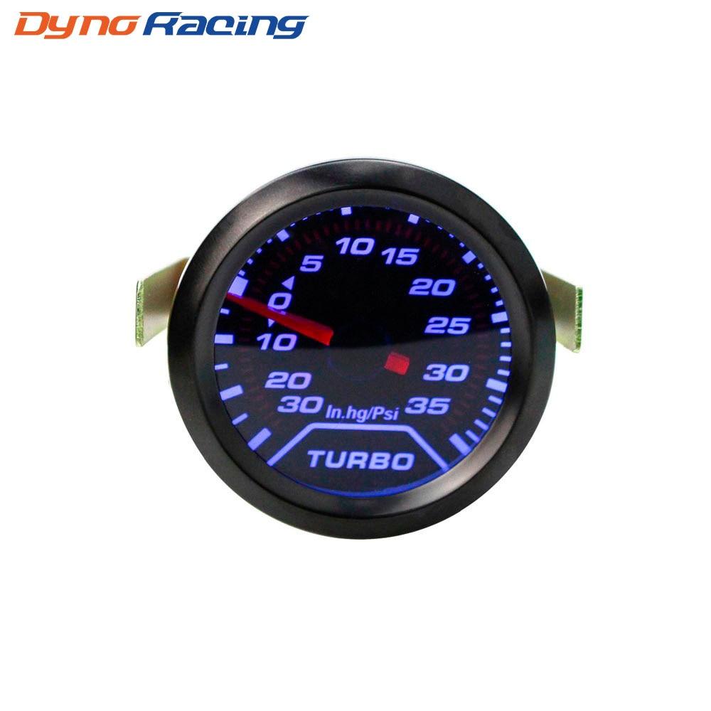 "2/"" 52mm Car Universal Digital Blue LED PSI Turbo Boost Gauge Meter Auto Motor US"