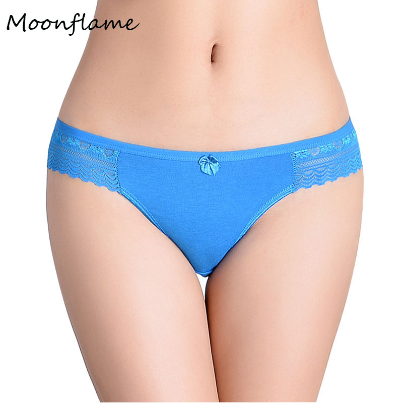 Moonflame Hot Sale 2019 Sexy Women's Cotton Lace Briefs   Panties   86812