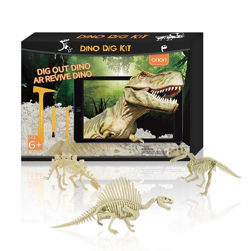 Nouveau dinosaure AR creuser des fouilles archéologiques exploration dinosaure résurrection APP bricolage enfants éducation scientifique tige jouets