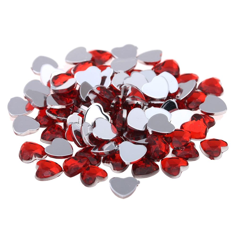 Плоской задней грани акриловые Стразы сердце Форма 12 мм 200 шт. много Цвета клей на Бусины DIY ремесла ювелирных изделий поставки
