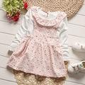 Children's Home Dress 2017 Spring New Long-sleeved Girls Princess Newborn Baby Dress Infant Dresses for Girls Vestido Infantil