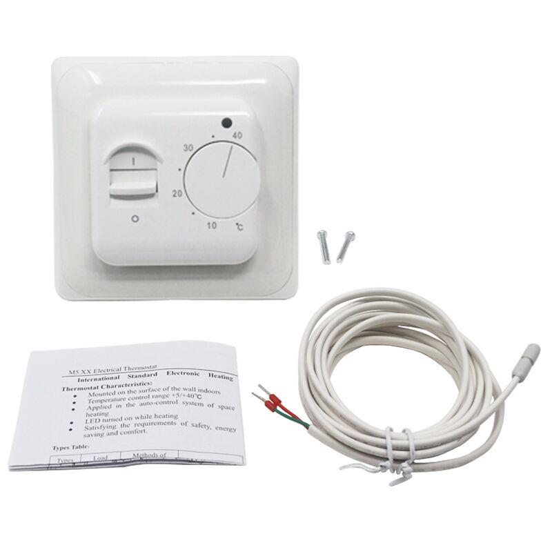 Aquecimento de piso elétrico sala termostato controlador temperatura quente regulador 220 v 230 v 16a ntc sensor programável universal