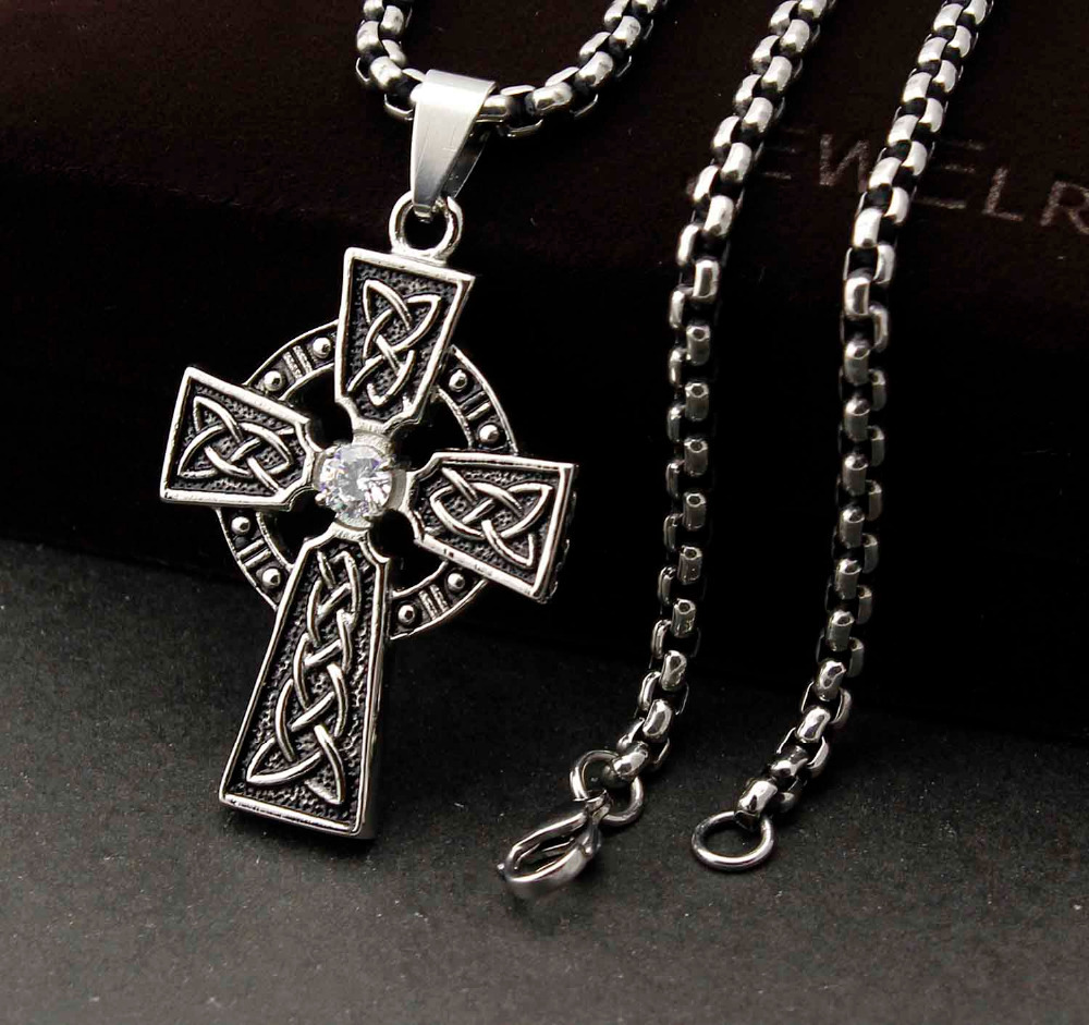 Mens 316l stainless steel vintage celtic cross pendant necklace in mens 316l stainless steel vintage celtic cross pendant necklace in pendants from jewelry accessories on aliexpress alibaba group aloadofball Gallery