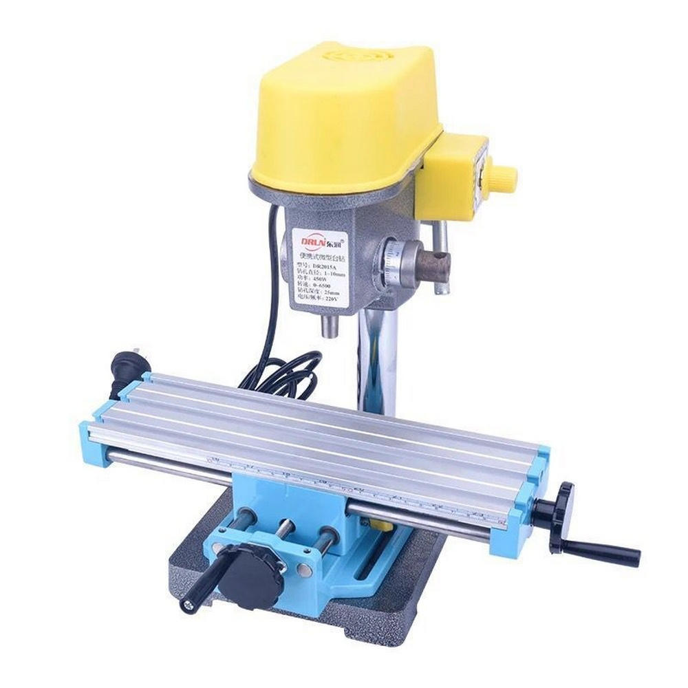 Suitable for Mini Drilling and Milling Machines Milling Drill Worktable Machine Drill Stands Milling Drill Aluminum Alloy Worktable Machine Cross Slide Bracket Multifunction Drill Press Table