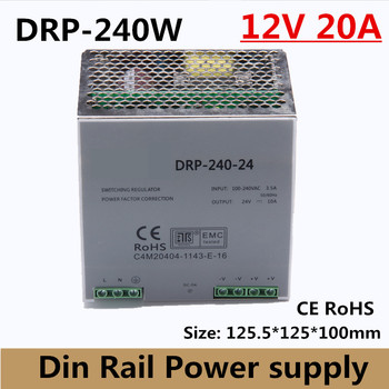(DR-240-12) DR-240-12 Single Output LED Din Rail Power Supply Transformer 240W DC 12V 20A Output SMPS CE  RoHS approval