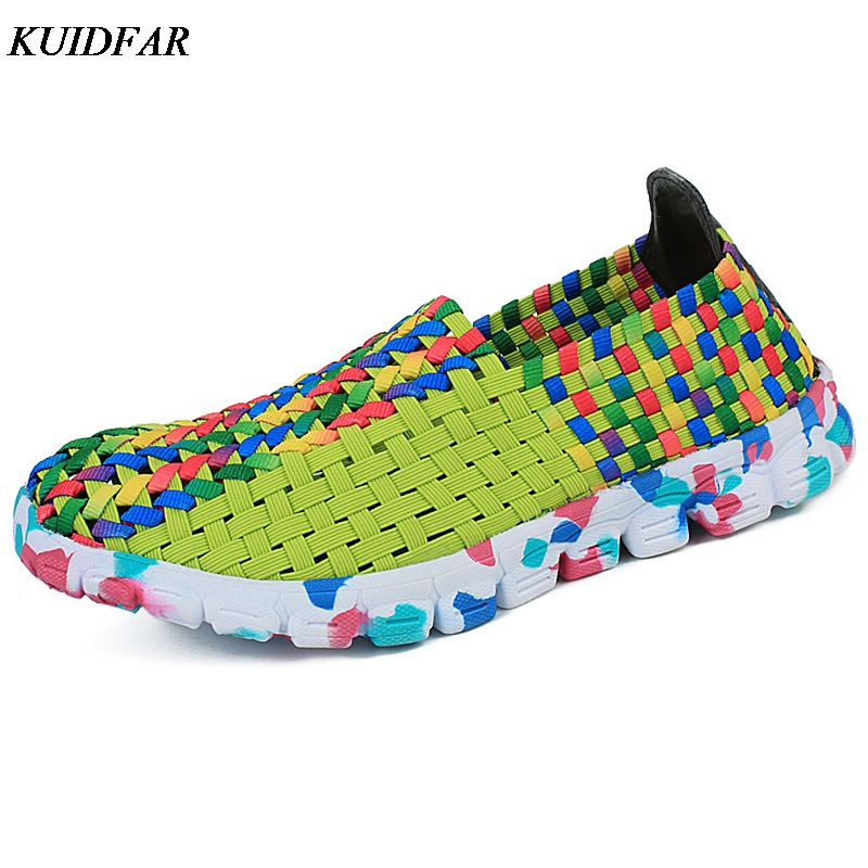 KUIDFAR 2018 Women Flat Shoes Summer Casual Women Shoes Female Colorful Slip On Flats Shoes Chaussure Femme sweet women high quality bowtie pointed toe flock flat shoes women casual summer ladies slip on casual zapatos mujer bt123