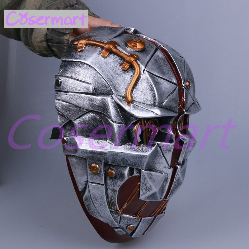 Cos Hot Game Dishonored Helmet Wearable Masks Cosplay Corvo Attano Mask Hard Resin Halloween Party (9)