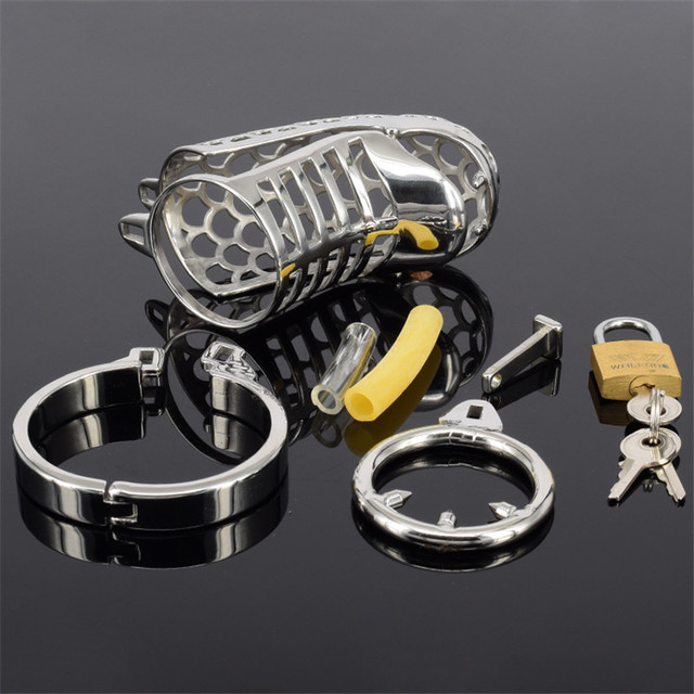 Male chastity device metal CB6000 cock cage penis ring penis lock ring anti-masturbation belt  Anti-shedding sex product man