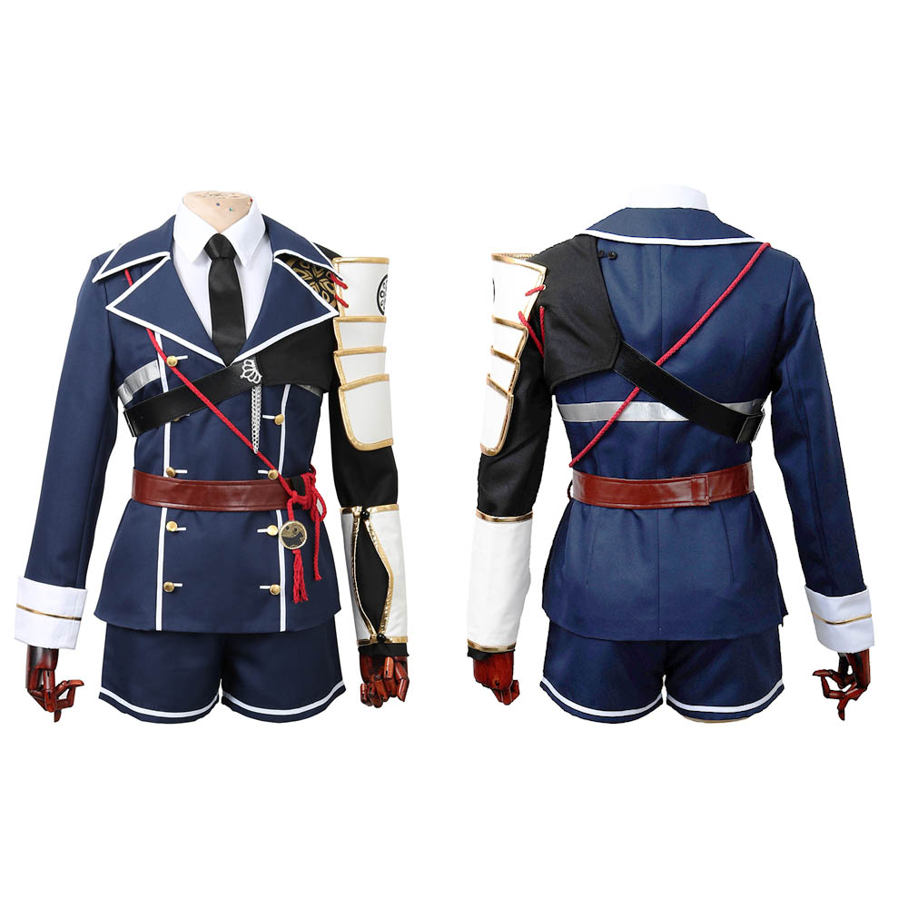 CGCOS Touken Ranbu Online Shinano Toshiro Uniform Coat Dresses Anime Game Cosplay Costume Halloween Christmas Full set New