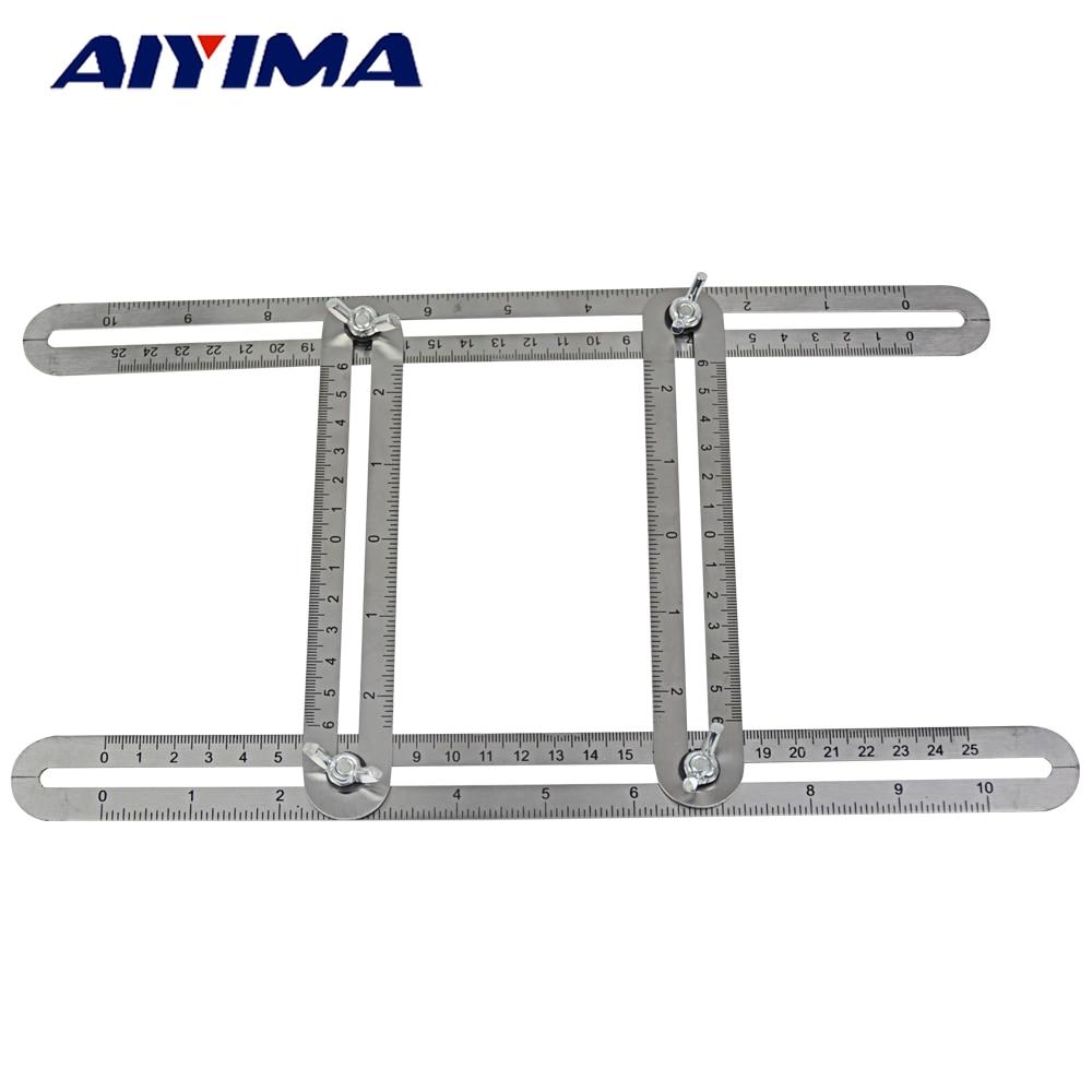 1pc Stainless steel four folding feet Four Sided Ruler font b Measuring b font font b